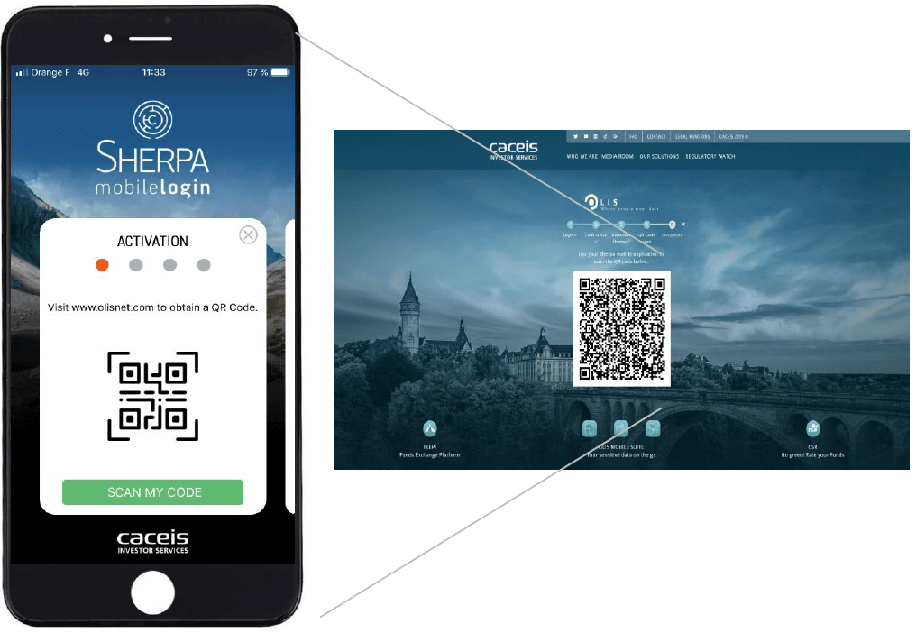 Download Sherpa and scan the QR code