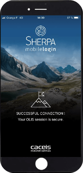 Your login OLIS is now associated with your Smartphone